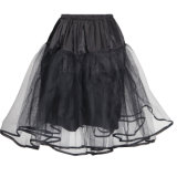 Women Mini Tutu Skirt Black Chiffon Tulle Cheap Swing Petticoat