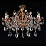 Purple and European Crystal Chandelier Light