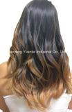 Clip in (on) Light Color Hair Human Extensions