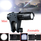 Black Aluminum 2000lm CREE T6 L2 High Bright 5 Mode Sos Torch 14500 AA Powered Tactical LED Zoomable Flashlight