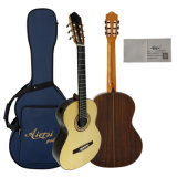 All Solid Classical Guitar Raised Fretboard and Single Port Model