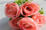 Import China Handmade Artificial Silk Rose Flower for Wedding Decoration