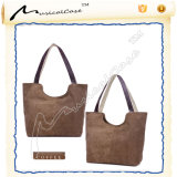 Brown Canvas Beach Tote Bag