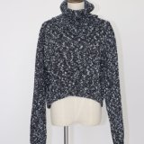 Fashionable Heathered Sweater Top in Heavy Guage with Tutle Neck and Long Sleeves