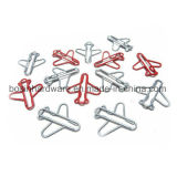 Airplane Shape Metal Paper Clips