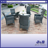 Luxury Outdoor Garden Furniture, Round Table & Adjustable Chair Set (J237)