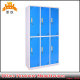 Colorful 6 Door Dormitory Steel Clothes Locker
