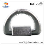 Forged Galvanized Container Lashing D Ring with Foundation