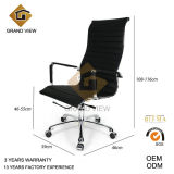 Black Artificial Leather Designer Manager Chair (GV-OC-H306)