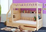Simple Style Wooden Bunk Bed with Ladder Ark (M-X1109)