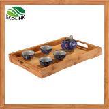 Bamboo Rectangle Shaped Tea Tray / Tea Plate with Handles