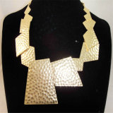 New Item Hammered Alloy Pendant Fashion Jewelry Necklace