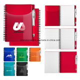 PP Covered Notebooks with 70-Pages for Company′s Meeting