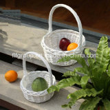 Customized 100% Handmade Fashionable Wicker Fruit Basket with Handle