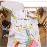 Kids Draw on Disposable Paper Tablecloth Rolls with PE Laminated