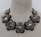High Quality Luxury Crystal Costume Jewelry Chunky Choker Necklace (JE0159)