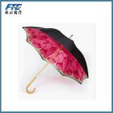 High Quality Big Inverted Black Coating Straight Rain/Summer Umbrella