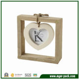 Antique Heart-Shaped Wooden Picture Frame for Decoration