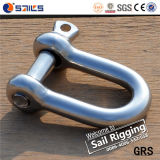 Large European Type Stainless Steel A2&A4 D Shackle
