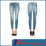 Monkey Wash Lady Fashion Ripped Ankle Skinny Jeans (JC1181)