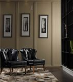 Leather Armchair, Hotel Chair, Fashion Leather Chair, Black Chair, Solid Wood, 2013 (K1253)