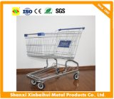 4 Wheels Steel Chrome Galvanized Supermarket Shopping Trolley