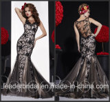 Mermaid Lace Party Prom Gown Vestidos Black Evening Dress P14715