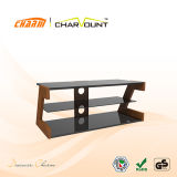 High Quality MDF & Tempered Glass TV Stand Has Cable Management (CT-FTVS-CM101)