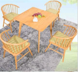 800*800mm Solid Wood Square Cafe Table and Chair