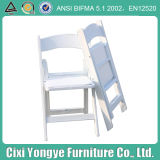 White Stackable Resin Folding Chair for Banquets