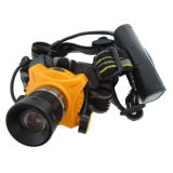 Helmet Style Lens Zoom Focus 3W LED Headlamp with 3AA Back Pack Battery Case