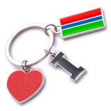 New Custom Metal Souvenir Gambian Keyring