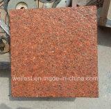 Orange Granite Flamed Tile for Floor/Wall Cladding
