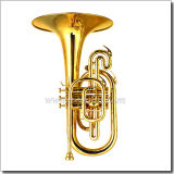 Yellow Brass Leadpipe F Key Marching-Mellophone (MMF6200)