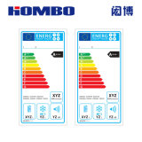 UV Printing Energy Rating Label for Household Electric Appliance