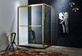 Golden Frame Clear Toughen Glass Shower Bathroom / Shower Enclosure (R656A)