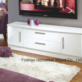 Traditional White Wooden Living Room TV Stand Cabinet (TVS23)