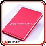 Sewn Edge Red PU Notebook