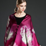 Double-Sided Printing Silk Scarf Shawl for Women