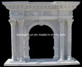 Stone Column Mantel (96687)
