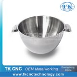 Stainless Steel Double Wall Salad Bowl with Handles for Hotel / Home Use by Stamping, Pressing, Laser Welding