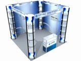 10*10ft Standard Portable Aluminum Exhibition Booth (LT-ZH004)