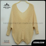 Dolman Sleeve Deep V Neck Knitted Sweater Casual Clothing