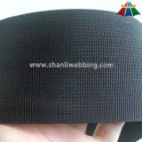 2 Inch Black Grooved Polyester Webbing for Garments