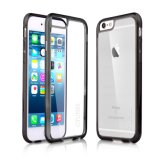 Black Transparent Case with Hard Clear Back Panel for iPhone 6s