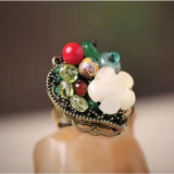 Boho Style Colorful Gemstone Ethnic Ring