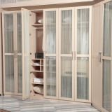 Modern Wholesale Melamine Wooden Bedroom Wardrobe with Glass Doors (YG11328)
