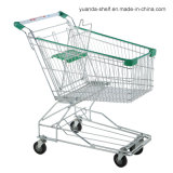 Grocery Wire Mesh Hand Metal Shopping Trolley