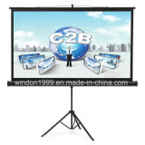 Factory Customized Portable Tripod Projection Projector Screen Floor Stand