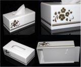 Modern White Acrylic Bathroom Facial Tissue Dispenser Box Cover / Decorative Napkin Holder